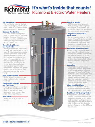 Richmond Essential 50 Gallon 6 Year Electric Water Heater