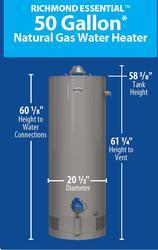 Richmond 174 Essential 174 50 Gallon 6 Year Natural Gas Water