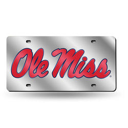 Rico NCAA Tennessee Martin Skyhawks Laser Cut License Plate Silver