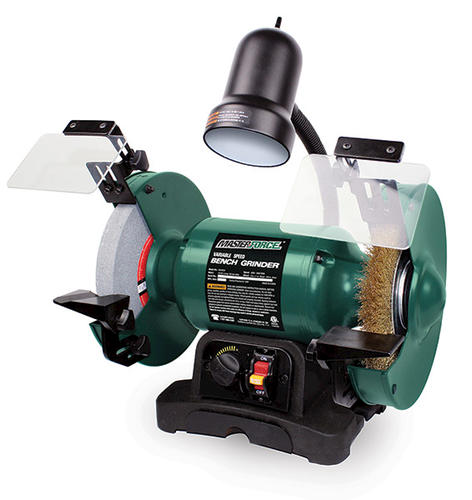 Miraculous Masterforce Corded 8 Variable Speed Bench Grinder At Menards Machost Co Dining Chair Design Ideas Machostcouk