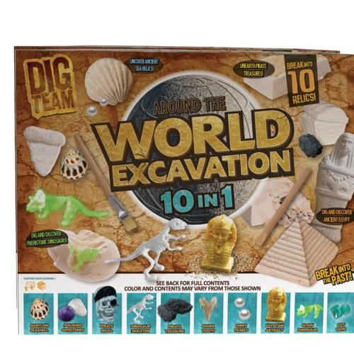 Dig Team Around The World 10-in-1 Excavation Kit at Menards®