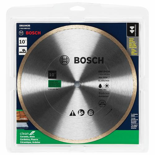 Bosch 10 Standard Continuous Rim Diamond Saw Blade For Universal Rough Cuts At Menards
