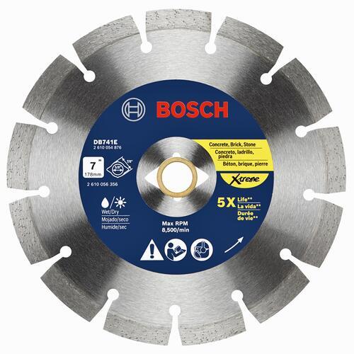 Bosch 7 Extreme Segmented Rim Diamond Blade For Masonry At Menards