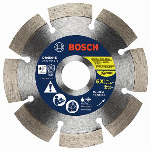 Bosch 4 1 2 Extreme Segmented Rim Diamond Blade For Masonry At Menards