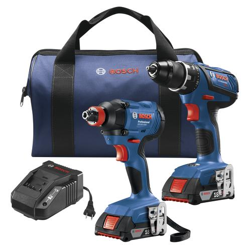 Bosch 18 Volt Lithium Ion Cordless 1 2 Drill Impact