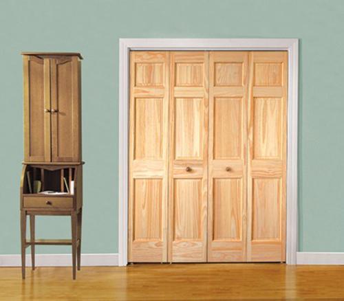 Mastercraft 174 Natural Pine Prefinished 6 Panel Bi Fold Door