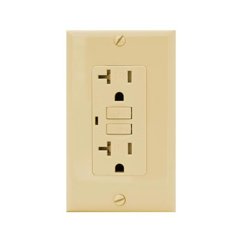 20 Amp Outlet >> Smart Electrician 20 Amp Tamper Resistant Self Test Gfci Outlet At