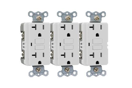 Smart Electrician®20-Amp Self-Test GFCI Outlet 3-Pack at Menards®
