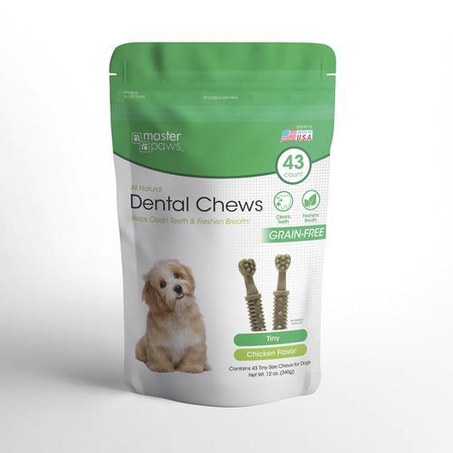 Master Paws® Toy Size Dental Brushes Dog Treats - 12 oz
