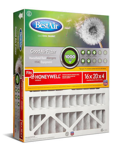 Pack of 3 Fits 100/% BestAir HW1620-8R AC Furnace Air Filter 16 x 20 x 4 Removes Allergens /& Contaminants MERV 8 For Honeywell Models