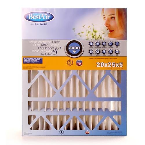 bestair® pleated replacement air filter merv 13 at menards®