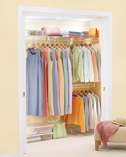 "Rubbermaid® FreeSlide® 48""-96"" White Closet Organizer Kit"