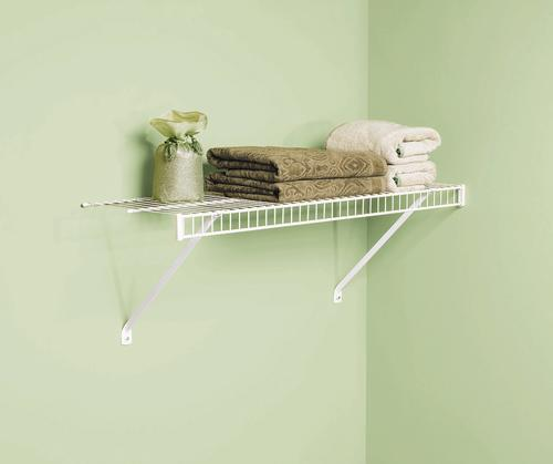 Rubbermaid® Linen White Wire Shelf Kit At Menards®