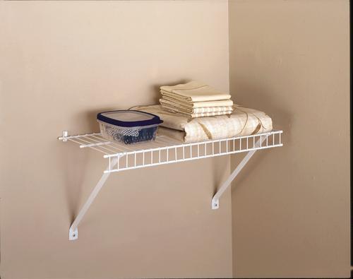 Rubbermaid Linen White Wire Closet Shelf Kit At Menards