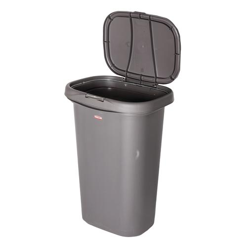 Rubbermaid® 13 Gallon Wastebasket with Spring Top Lid at ...