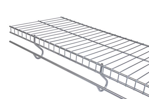 Rubbermaid Freeslide Satin Nickel Wire Closet Shelf At Menards