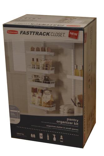 Rubbermaid 174 Fasttrack 174 Closet White Pantry Organizer Kit