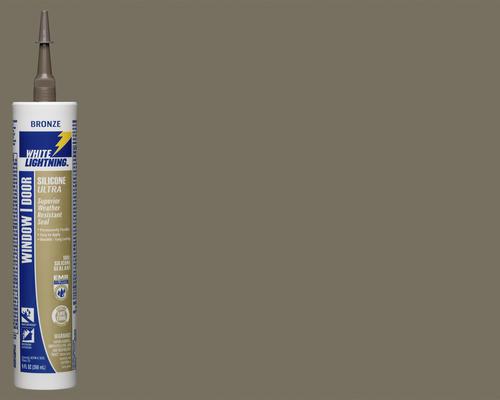 White Lightning® Silicone Ultra Window & Door Sealant - 9 oz at Menards®