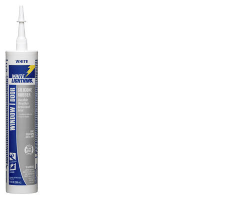 White Lightning® Silicone Rubber Window & Door Sealant - 9 oz at