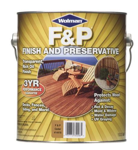 Wolman™ Fu0026P Cedar Finish And Preservative   1 Gal. At Menards®
