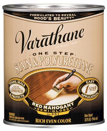 VarathaneR One Step Red Mahogany Stain Polyurethane