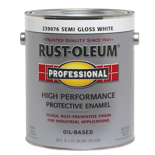 Rust-Oleum® Professional Semi-Gloss White High-Performance Enamel