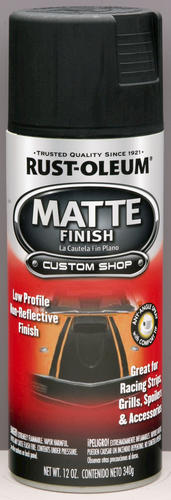 Rust-Oleum® Automotive Matte Black Finish Spray - 12 oz at Menards®