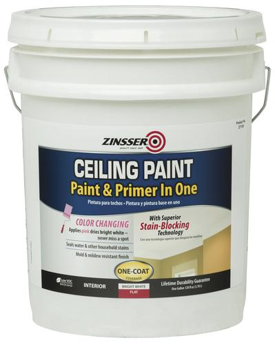 Bon Zinsser® Flat Bright White Ceiling Paint And Primer   5 Gal. At Menards®