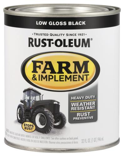 Rust-Oleum® Specialty Low Gloss Black Farm and Implement Enamel - 1
