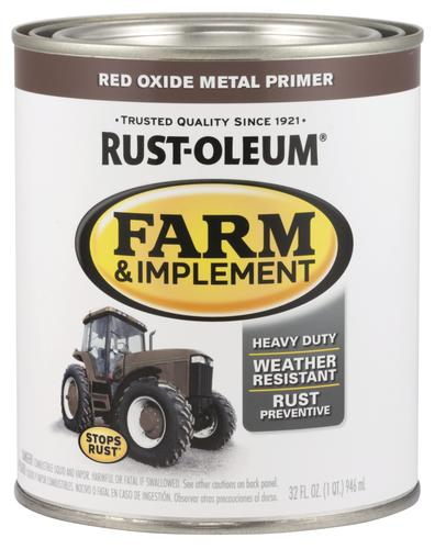 Rust-Oleum® Red Oxide Metal Primer Farm and Implement Enamel - 1 qt