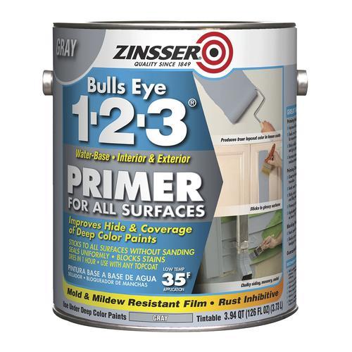 Zinsser Bulls Eye 1 2 3 Interior Exterior Gray All Surfaces Primer At Menards