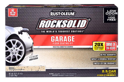 Rust Oleum 174 Rocksolid 174 Polycuramine 174 2 5 Car Garage Floor