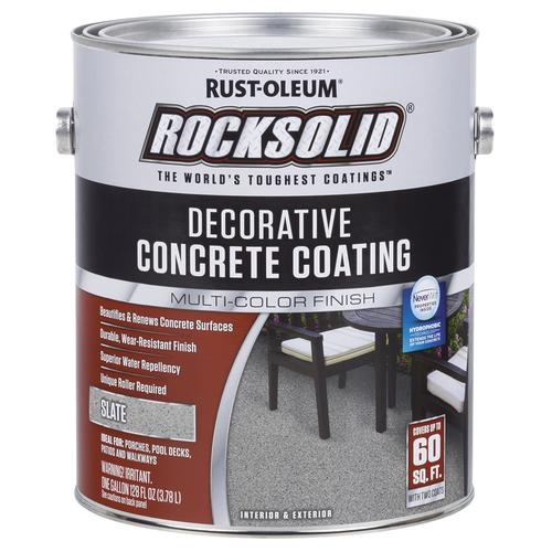 Rust Oleum 174 Rocksolid 174 Decorative Concrete Coating Slate