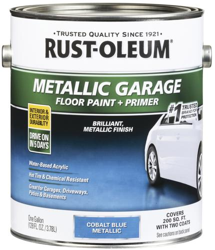 Rust Oleum 174 Metallic Cobalt Blue Concrete And Garage Floor