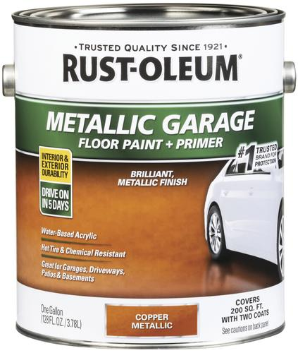 Rust-Oleum® Metallic Copper Concrete and Garage Floor Paint - 1 gal