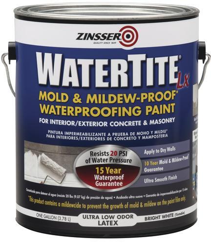 WaterTite LX Waterproofing Paint Gal At Menards - Moisture resistant paint for bathrooms