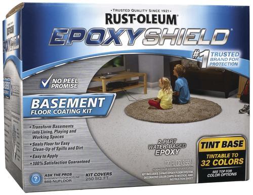 Rust-Oleum® EPOXYSHIELD® Tintable Base Basement Floor