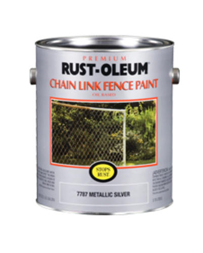 Rust Oleum Stops Metallic Silver Chain Link Fence Paint 1 Gal At Menards