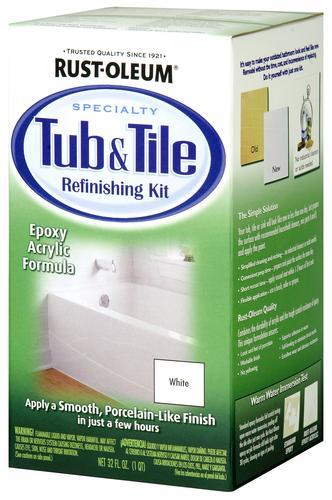 Rust Oleum® Specialty White Tub U0026 Tile Refinishing Kit   1 Qt At Menards®