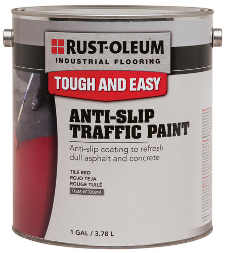 RustOleum Industrial Flooring Tile Red AntiSlip Traffic Paint - Anti slip coating for ceramic floor tiles