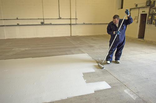 Rust Oleum® Industrial Flooring White Concrete Floor Paint   1 Gal. At  Menards®