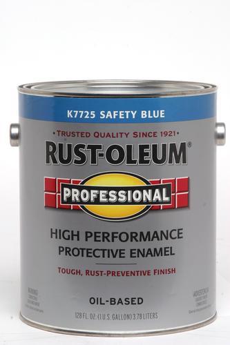 Rust Oleum Professional Gloss Safety Blue Low Voc High Performance Enamel