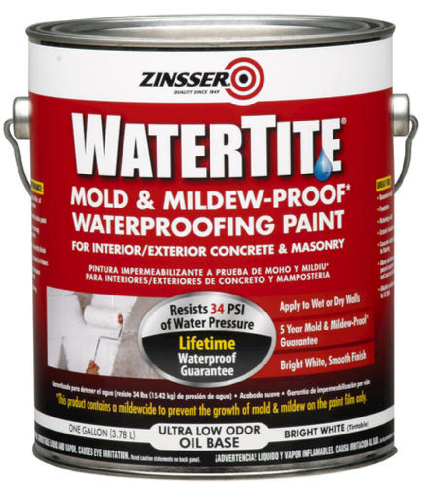 Zinsser Watertite Mold Mildew Proof Concrete Masonry Waterproofing Paint At Menards