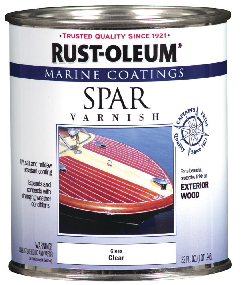 Rust Oleum Marine Coatings Exterior Gloss Clear Wood Spar Varnish 1 Qt At Menards