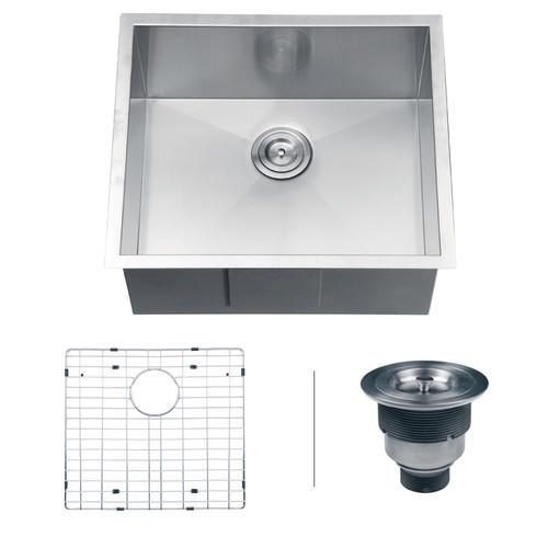 Ruvati 23-inch Undermount 16 Gauge Zero Radius Kitchen Sink ...