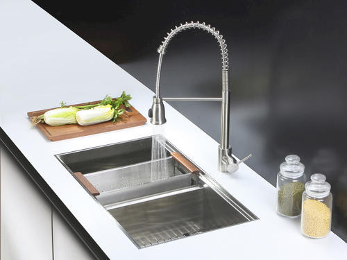 Ruvati 33 Inch Workstation Ledge 50 50 Double Bowl Undermount 16 Gauge Stainless Steel Kitchen Sink Rvh8350 At Menards