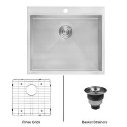Ruvati 25 Stainless Steel Top Mount Laundry Utility Sink