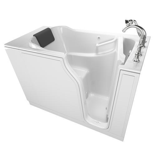 "safety tubs® 52"" w x 30"" d white soaking walk-in bathtub - right"