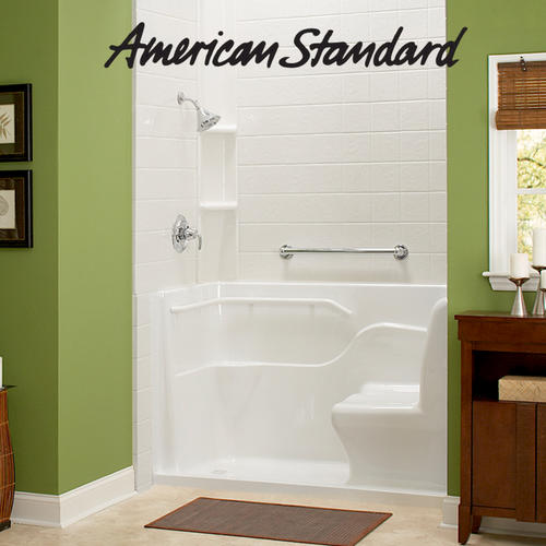 American Standard 60 X 30 X 37 Acrylic Seated Shower Left Hand