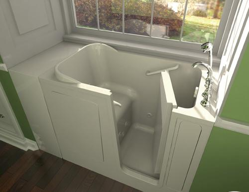 "safety tubs® 48"" w x 28"" d jet massage walk-in bathtub - right hand"